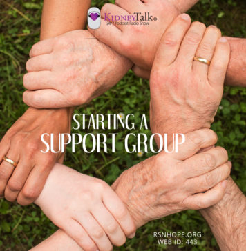 Starting a Support Group - kidney talk