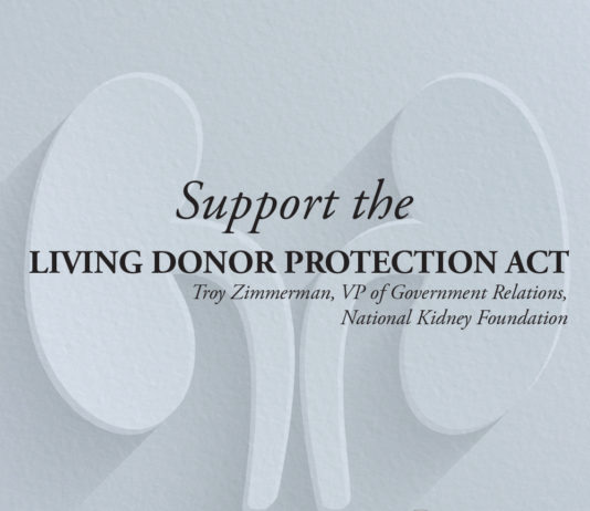 Support the Living Donor Act-Kidney Talk