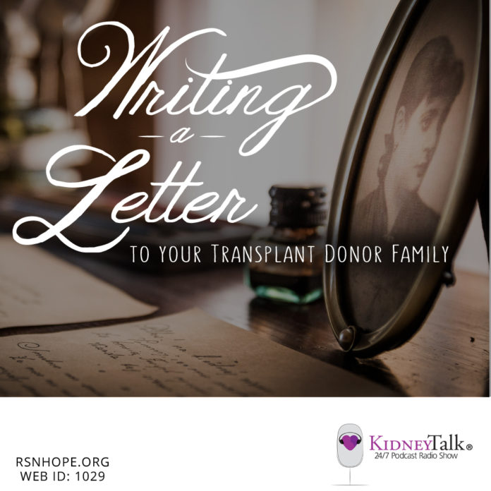 Transplant Donor Family - kidney talk