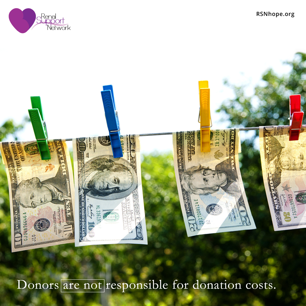 organ donors do not pay to donate