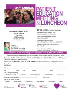Kidney Disease Pateint Education Meeting and Luncheon