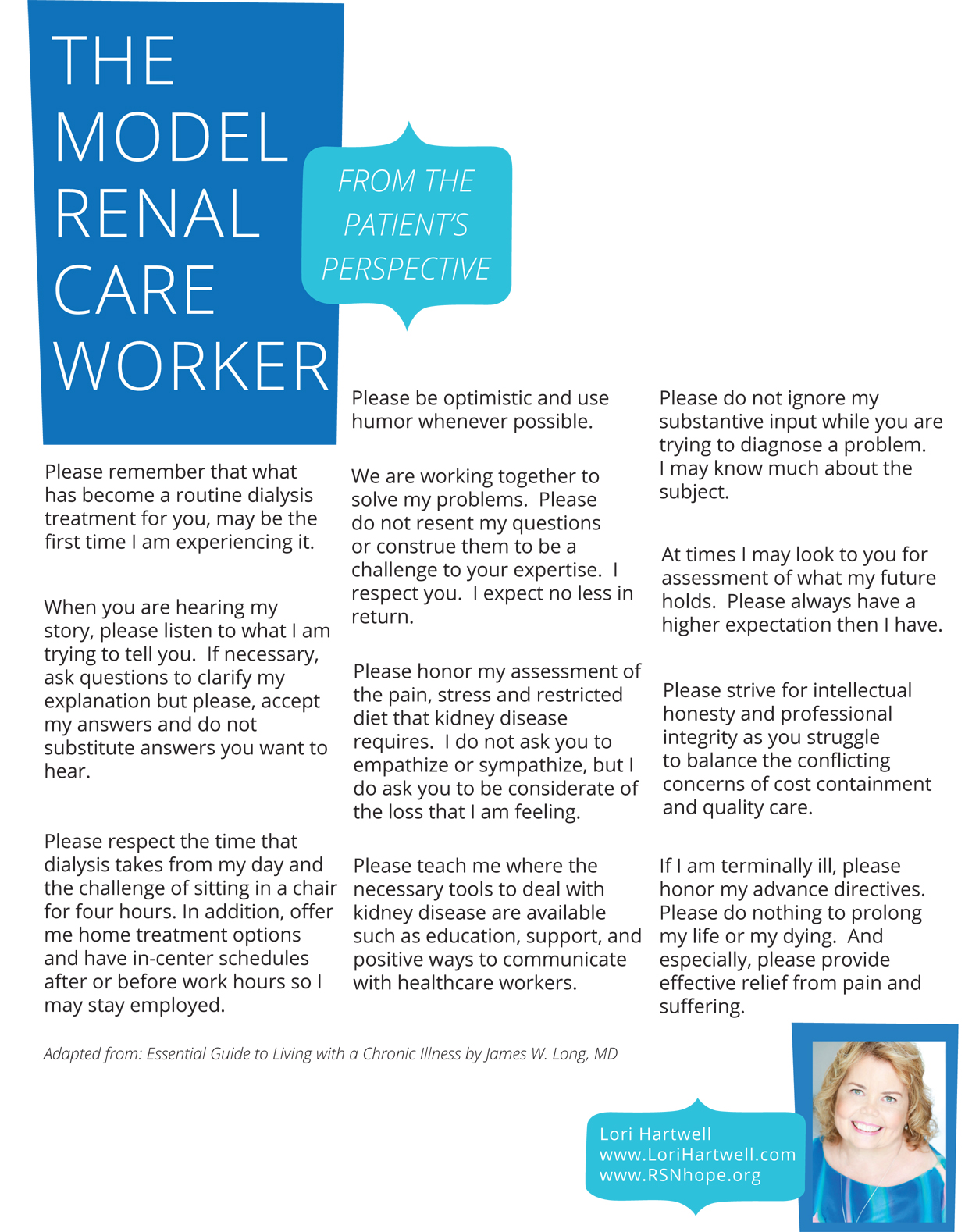 Patients Perspective-Model renal care worker - Lori Hartwell-2