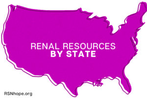 Renal Resources by state