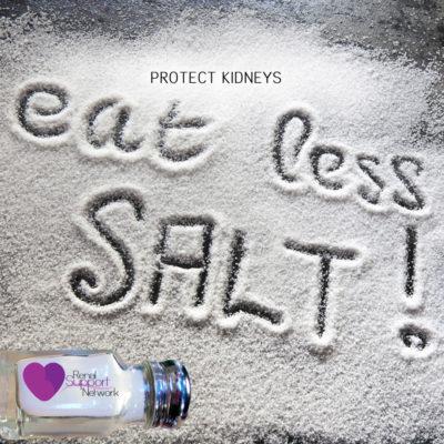 protect kidneys - eat less salt