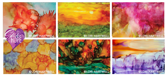 Alcohol Ink Painting Class - studio hope - renal support network - lori hartwell