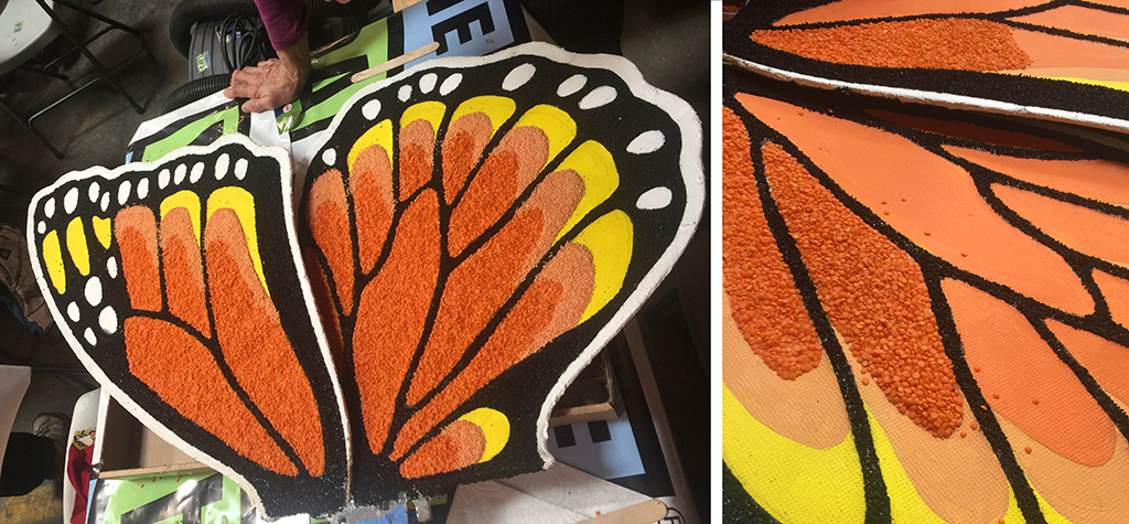 Donalelife - rose parade float - Monarch Wings