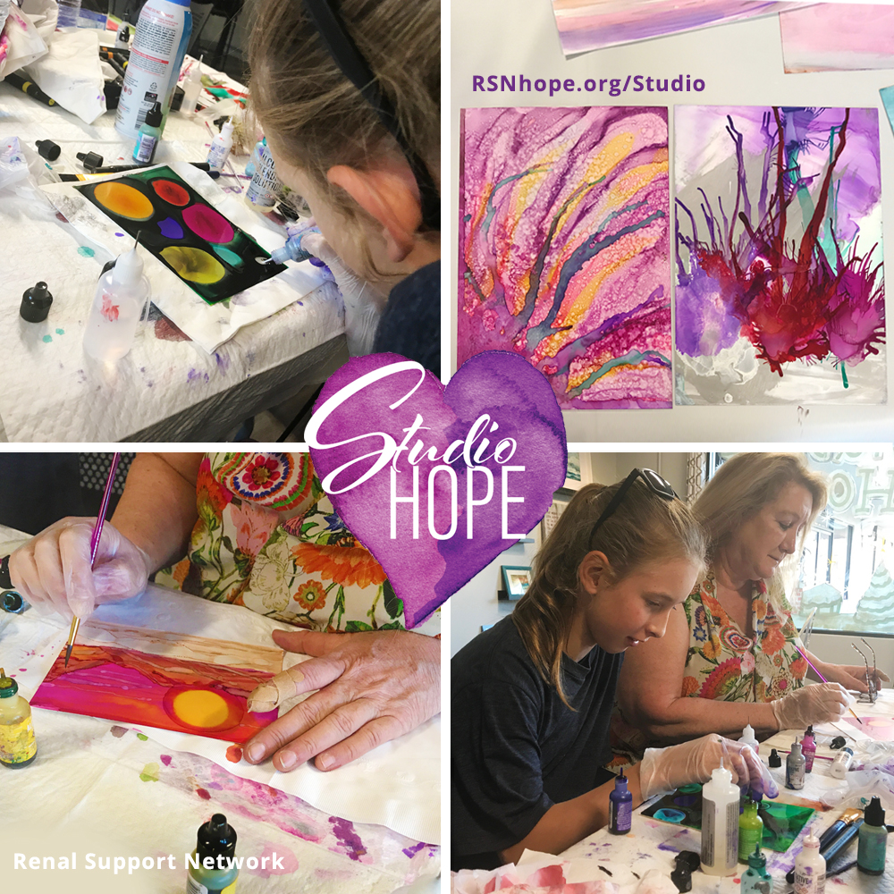 Alcohol Ink Painting Class - Glendale Ca - Studio Hope