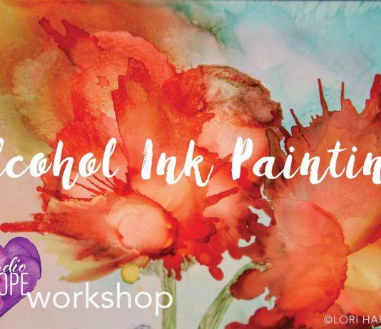 Alcohol ink painting- studio hope- renal support network