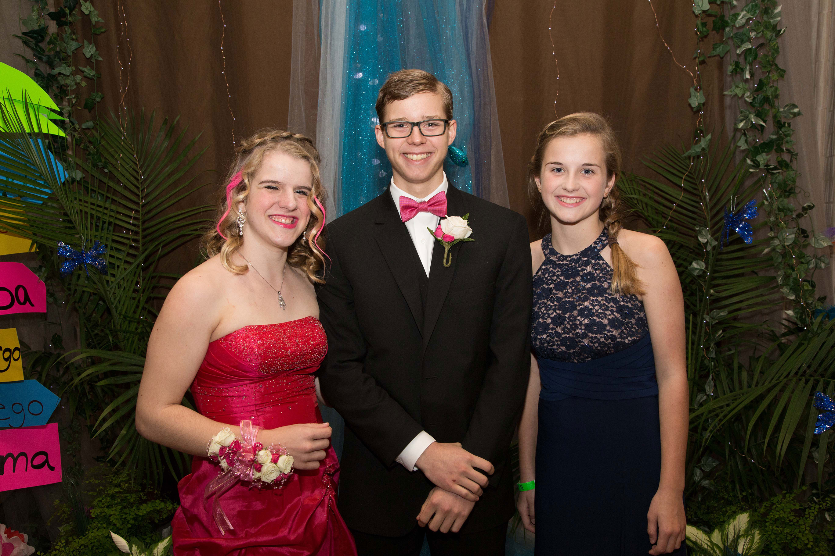 Brenna Kahlen with her prom guests