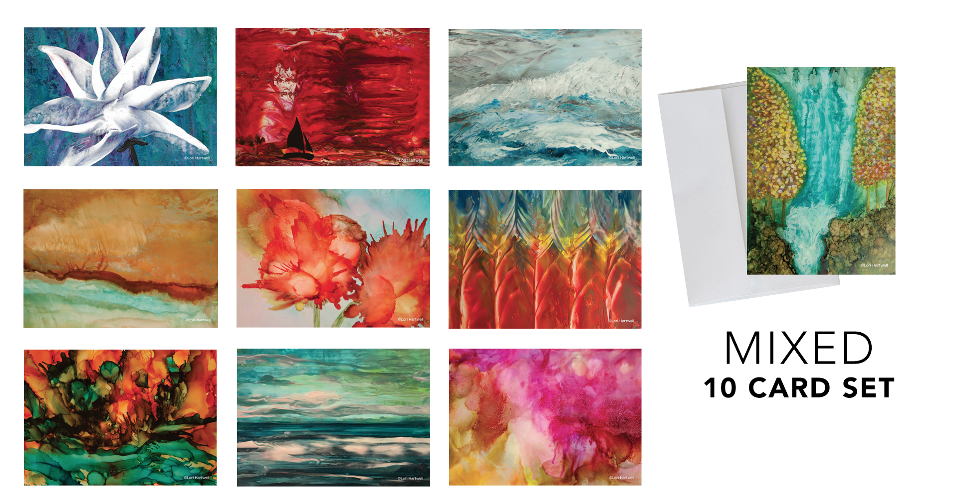 Fine Art Notecards - MIXED - 10 CARD SET