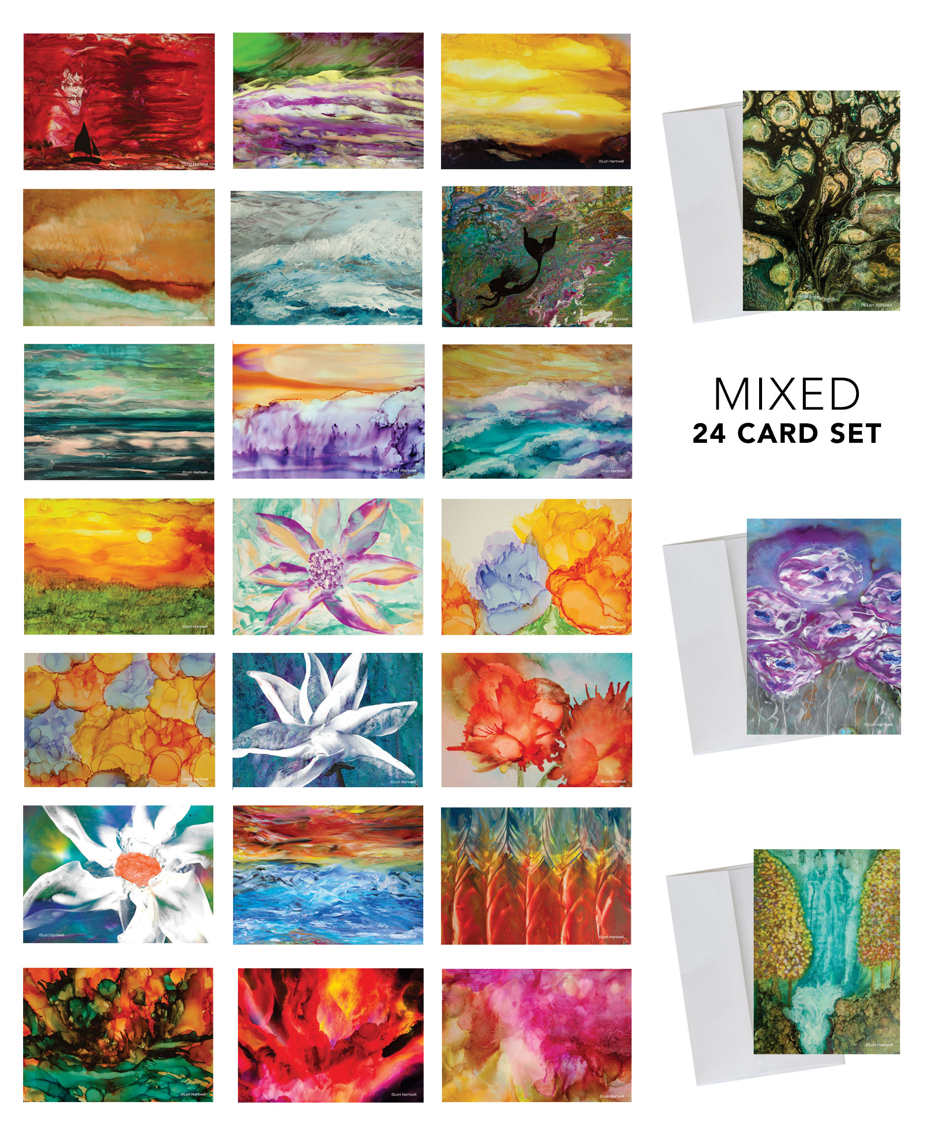 Fine Art Note Cards - 24 card set