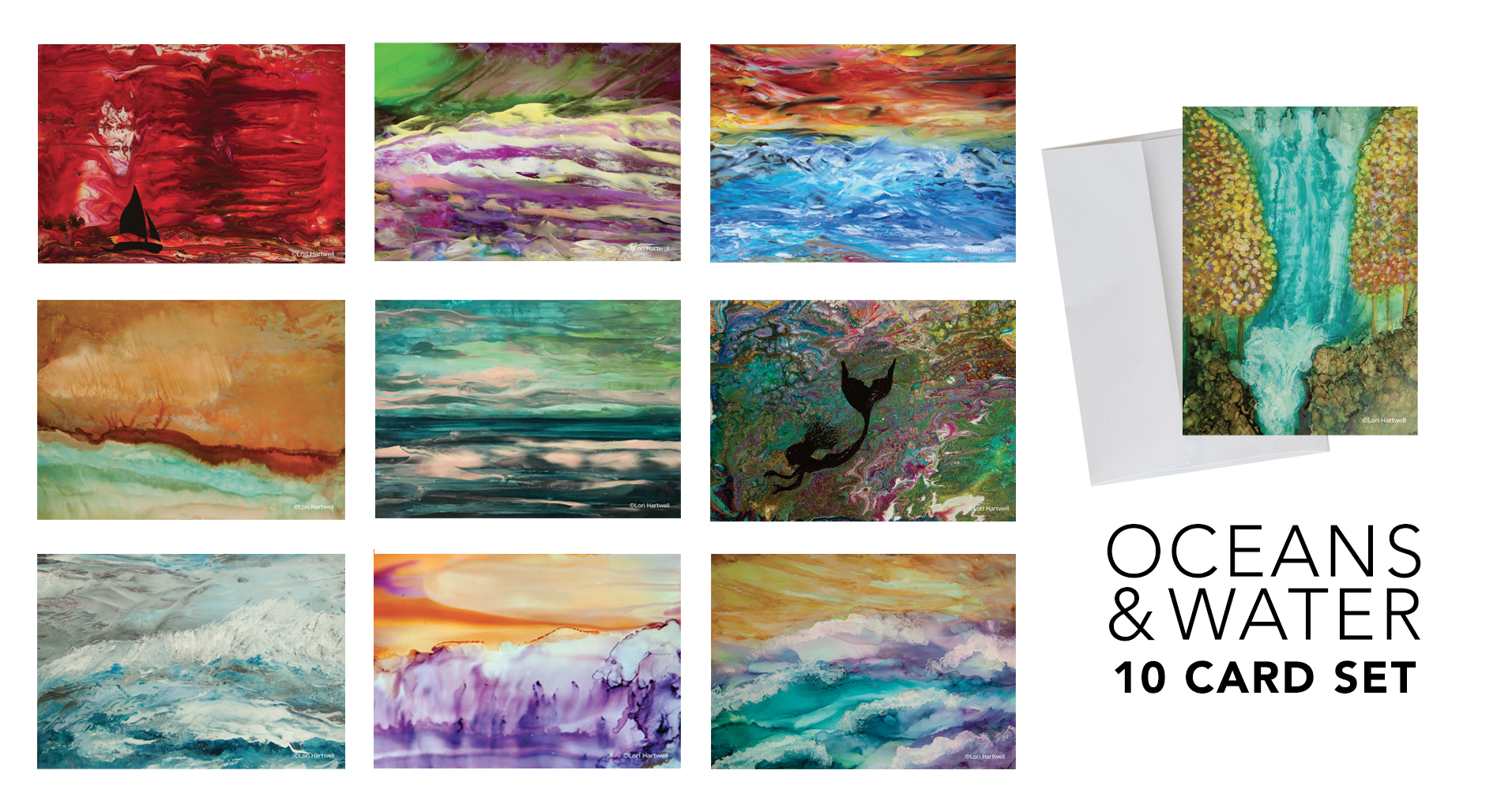 Fine Art Notecards - Oceans- 10 CARD SET