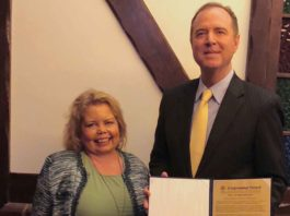 Congressman-Adam-Schiff-Woman-of-the-year-Lori-hartwell