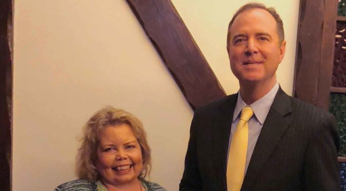 Congressman-Adam-Schiff-Woman-of-the-year-Lori-hartwell