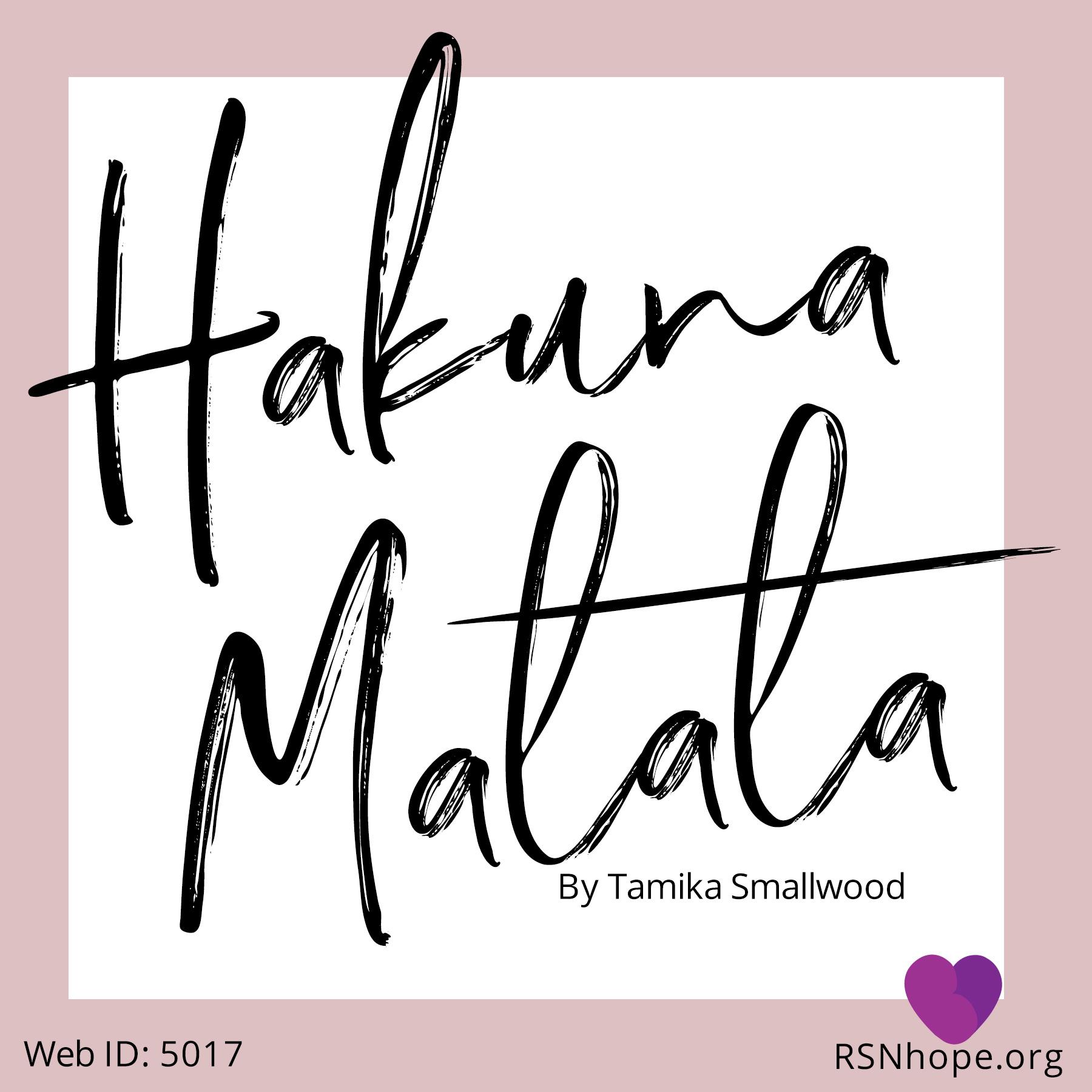 c32544456 Hakuna Matata – Honorable Mention 16th Annual Essay Contest   Renal ...